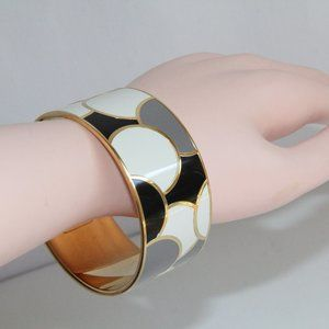 "Kate Spade ""Night and Day"" Enamel Bangle Bracelet"